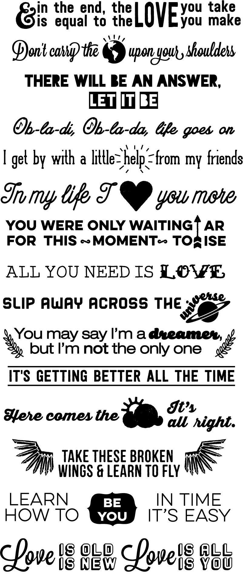 You Probably Need These Amazing Beatles Lyrics Stair Decals | The ...