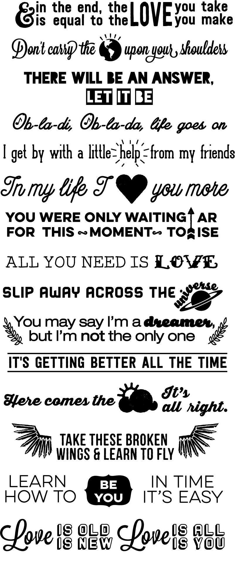 You Probably Need These Amazing Beatles Lyrics Stair Decals Beatles Lyrics Beatles Tattoos Beatles Quotes