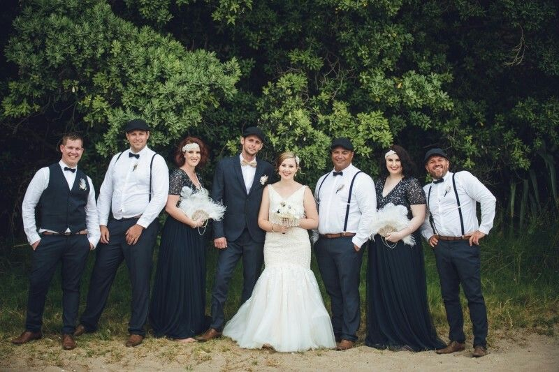 Gatsby bridal party
