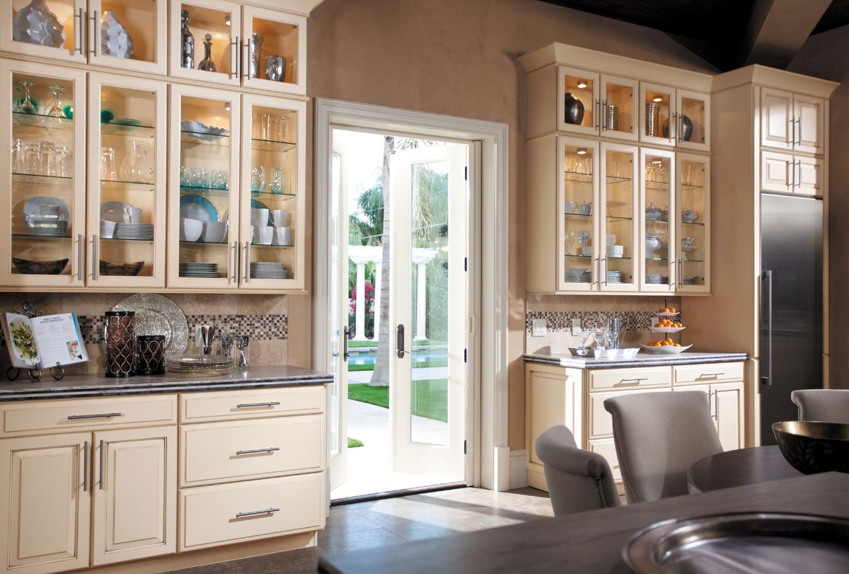 Waypoint Living Spaces  Style 610 In Painted Hazelnut Glaze Stunning Kitchen Cabinet Packages Decorating Design
