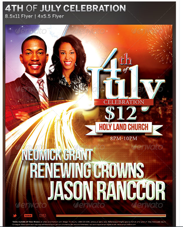 4th Of July Celebration Flyer Template Party Flyer Templates For