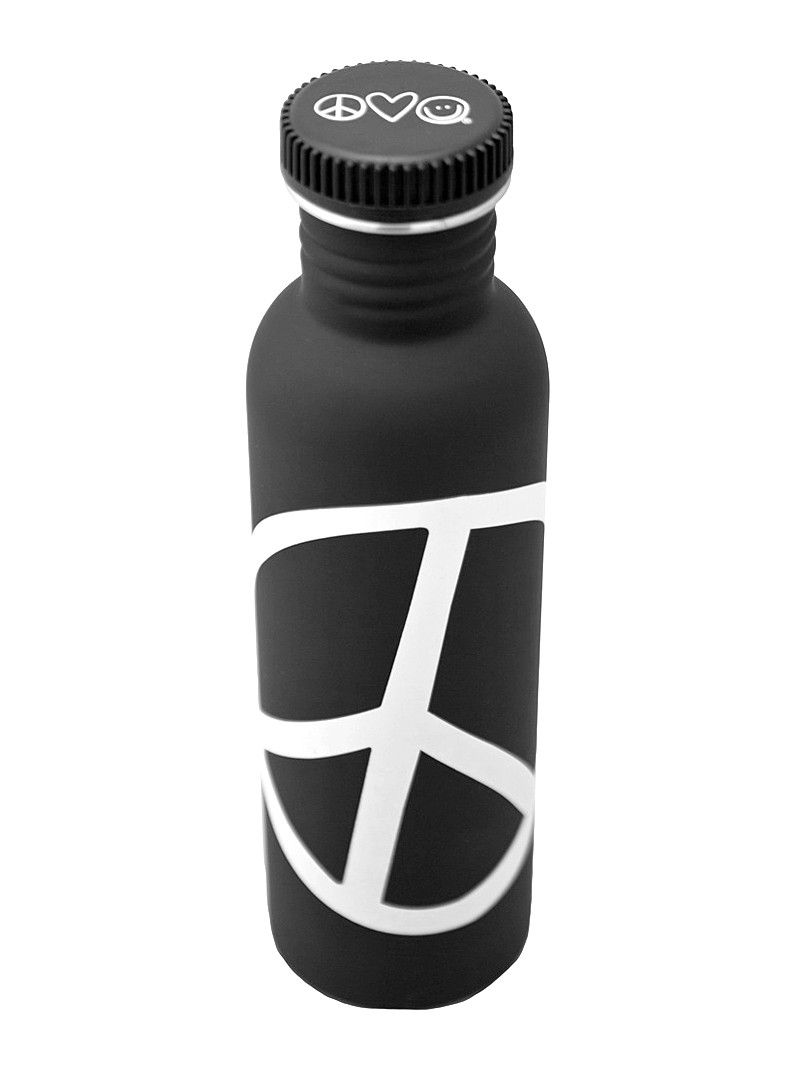 I Am Peace Black Water Bottle  C B Peace Love Worldworld