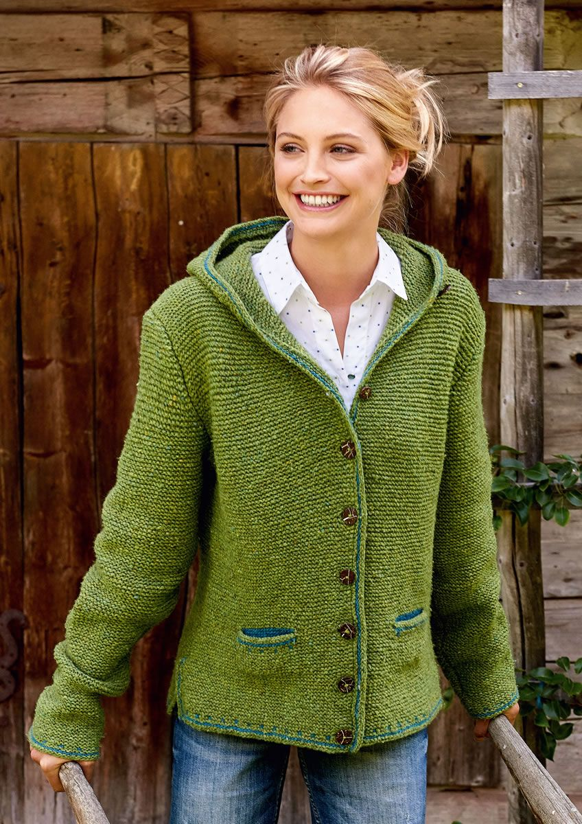 damen kapuzenjacke stricken