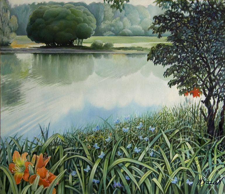 "Natalia Saranduck Romanova > ""Morning"" (2012), Oil on canvas"