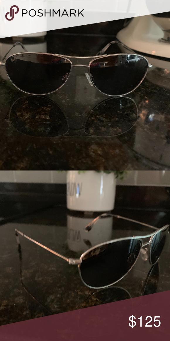 58cea25dff98 Maui Jim Baby Beach Aviator sunglasses Great condition Maui Jim woman  aviator sunglasses! Silver frame