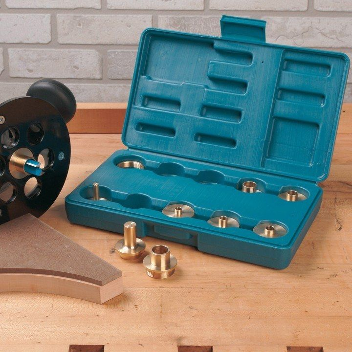 Rockler router guide bushing kit template patterns and woodworking rockler router guide bushing kit greentooth Image collections