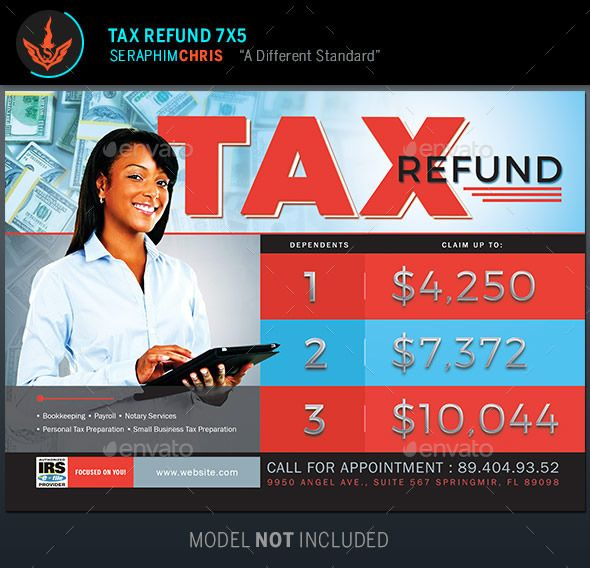 Tax Refund Flyer Template | Flyer template, Template and Business ...