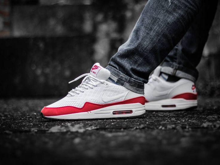 723f510f01c3 Nike Air Max 1 Engineered Mesh - White Red - 2013 (by Jan Hünniger) Sneakers  greatly benefit from shoe trees related to care