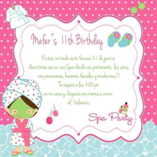 Invitacion Imprimible Spa Party 42 00 Invitaciones