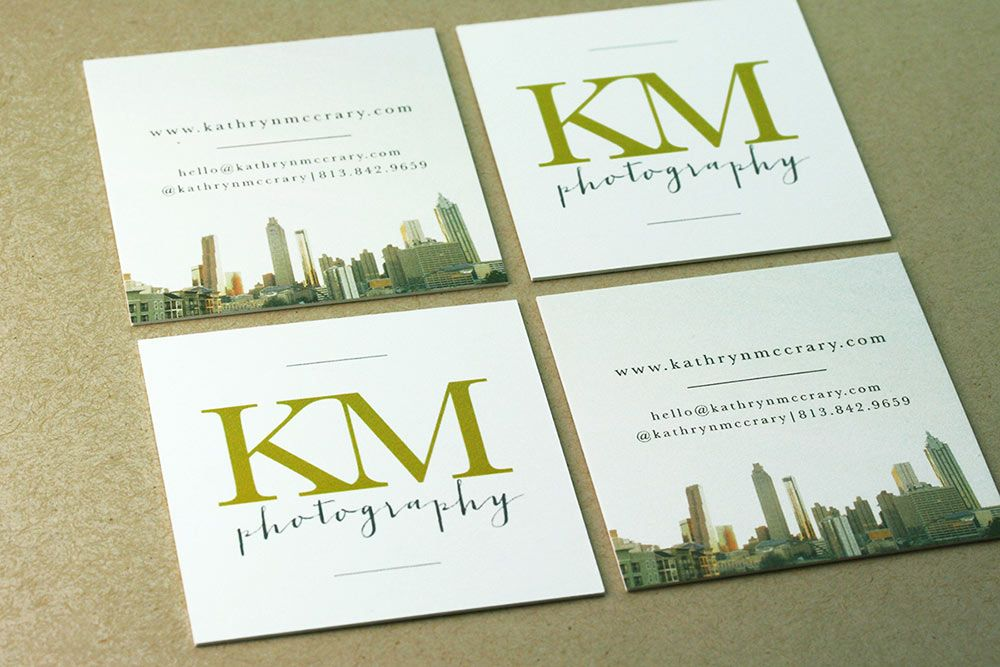 Square business card printed on extra thick paper for Kathryn ...