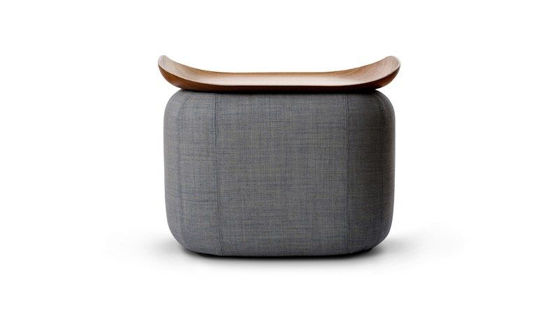Pouf table basse quadro collection nordic by softline design susanne gr n - Table basse pouf integre ...