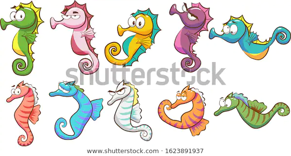 Seahorse Vector Set Collection Graphic Clipart Animals Cartoon Design Illustration Graphicdesign Clipart Pinterest Beauty Buyonline ภาพต ดปะ ภาพประกอบ