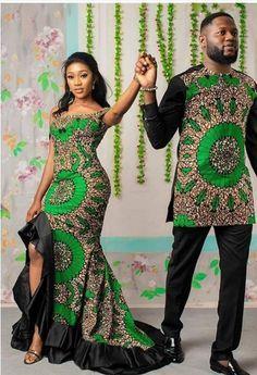 African Couple/ Ankara Couple Outfit/Family Set/Hu