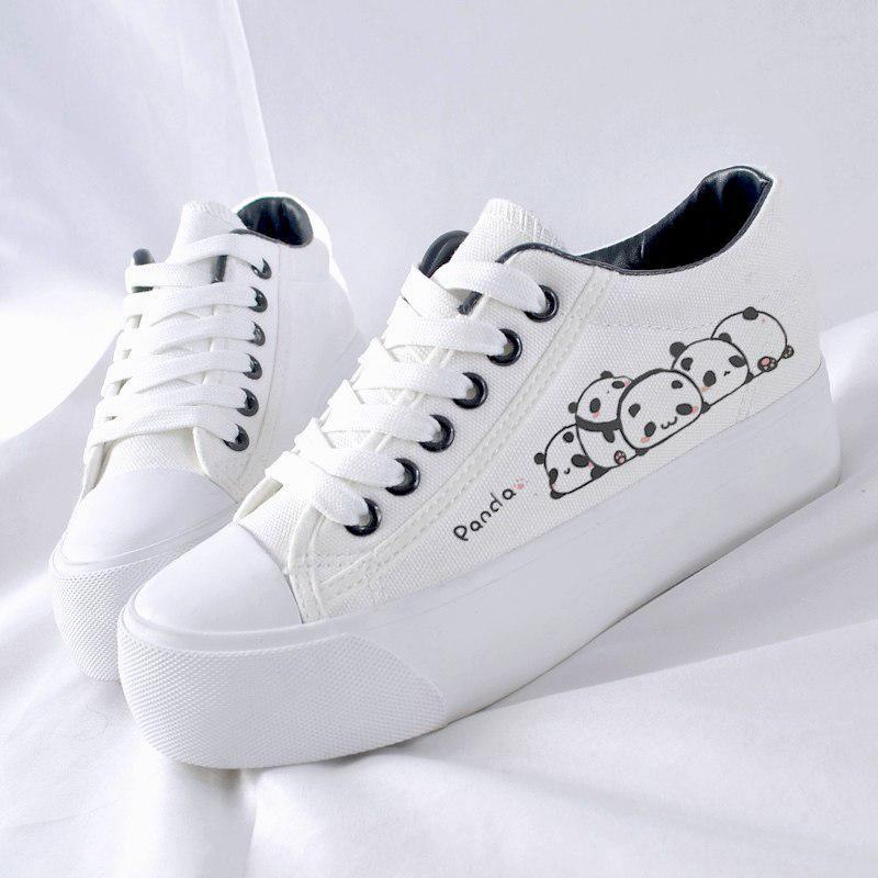 Women platform sneakers, Canvas shoes
