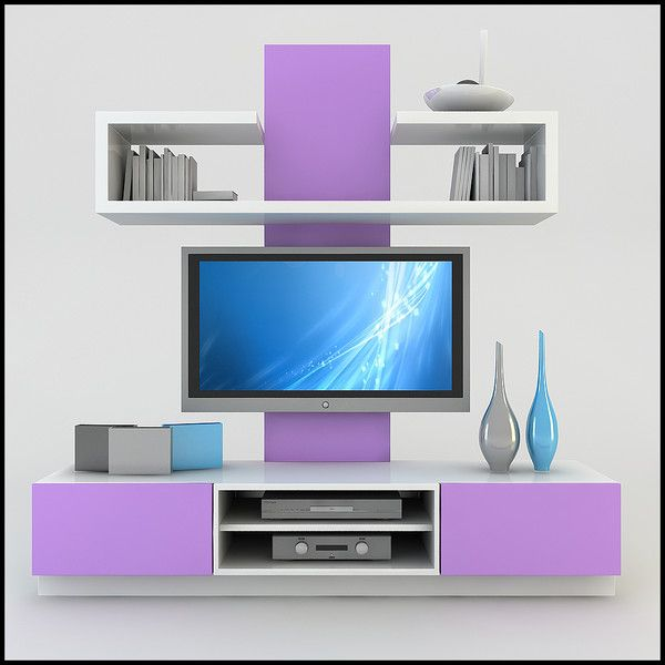 Charmant Tv Wall Design Tv Wall Unit Modern Design X 19 Model .obj Tv Wall Design TV  / Wall Unit Modern Design X 19 Model .