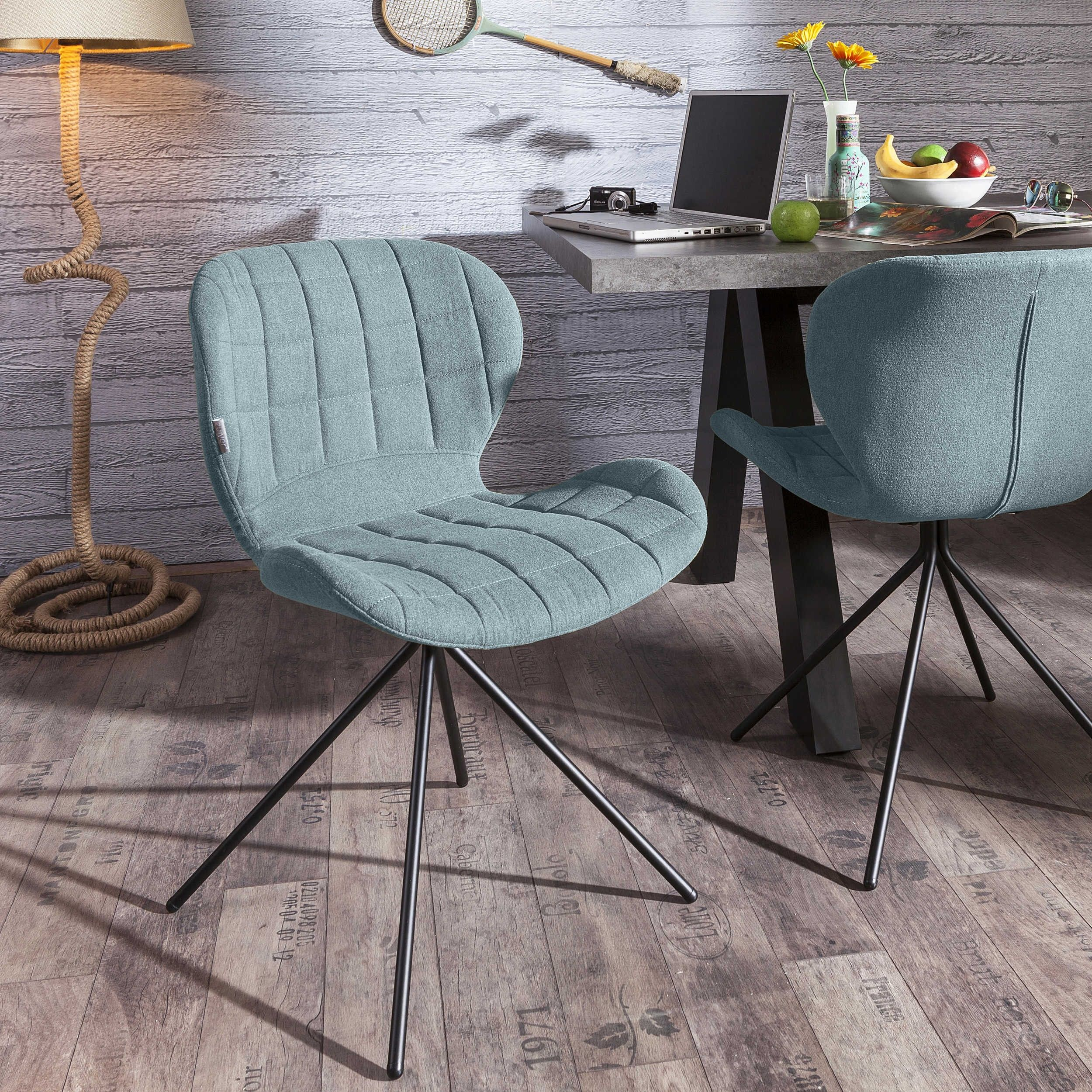 Zuiver Stuhl Omg Blau 4 Fuß Stühle Stühle Freischwinger