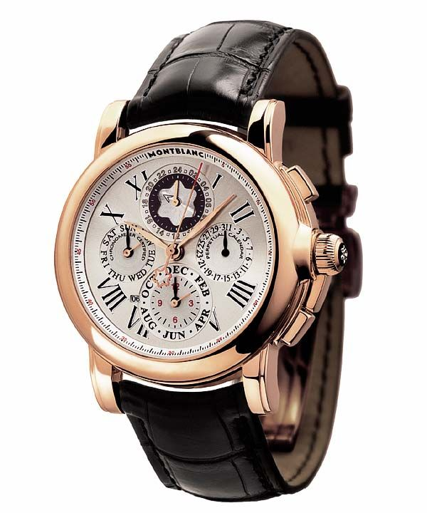 A pre-owned, perfect condition, Montblanc Star Chronograph GMT