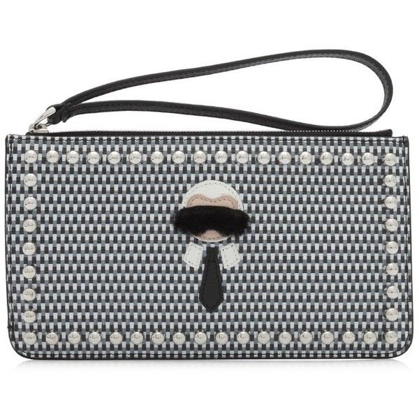b665cdf013e6 Fendi Karlito Flat Pouch ( 450) ❤ liked on Polyvore featuring bags ...