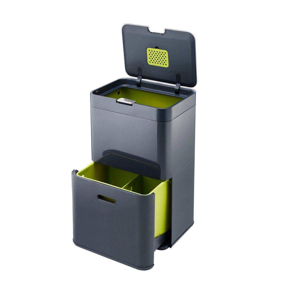 Recycling Mülleimer totem 48 mülleimer dklgrau joseph joseph interior