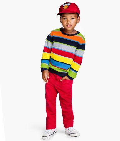 Kolorowy Sweterek H M Kids Outfits Boy Fashion Twill Pants