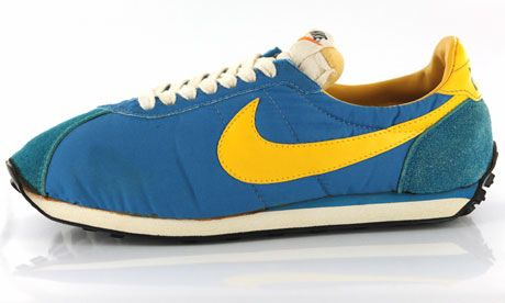 My very first running shoes: NIKE Waffle Trainer. 1980s!!!