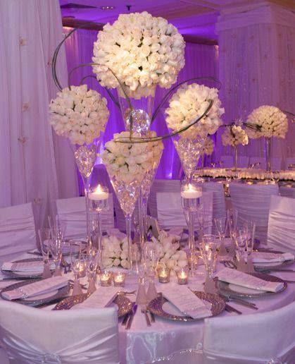 David Tutera Wedding Centerpiece Ideas: Elegant Table And Centerpieces...different Flowers Tho