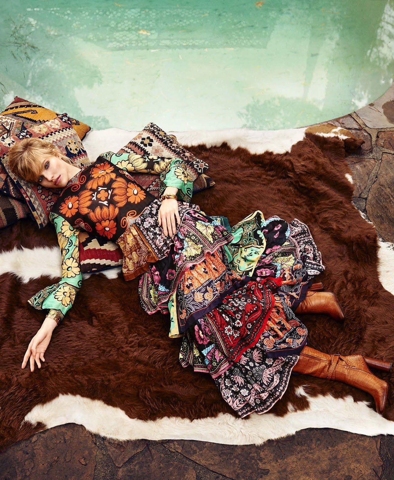 visual optimism; fashion editorials, shows, campaigns & more!: the new bohemian: sasha luss by terry richardson for us harper's bazaar march 2015