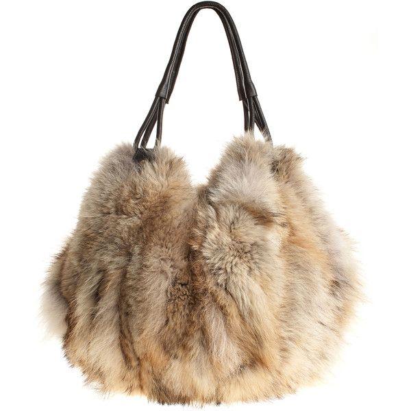 Harricana Bundle Bag 1 010 Sar Liked On Polyvore Featuring Bags Handbags Purses Handbag Purse Brown Handle Ba Faux Fur Handbag Fur Purse Faux Fur Purse