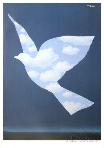 RENE MAGRITTE 1966 De luchtvogel  / L'Oiseau du Ciel
