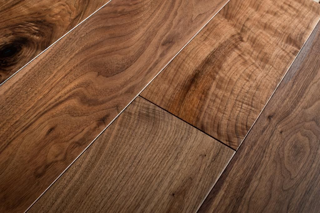 Lacquered American Walnut Hardwood Flooring Is Simply