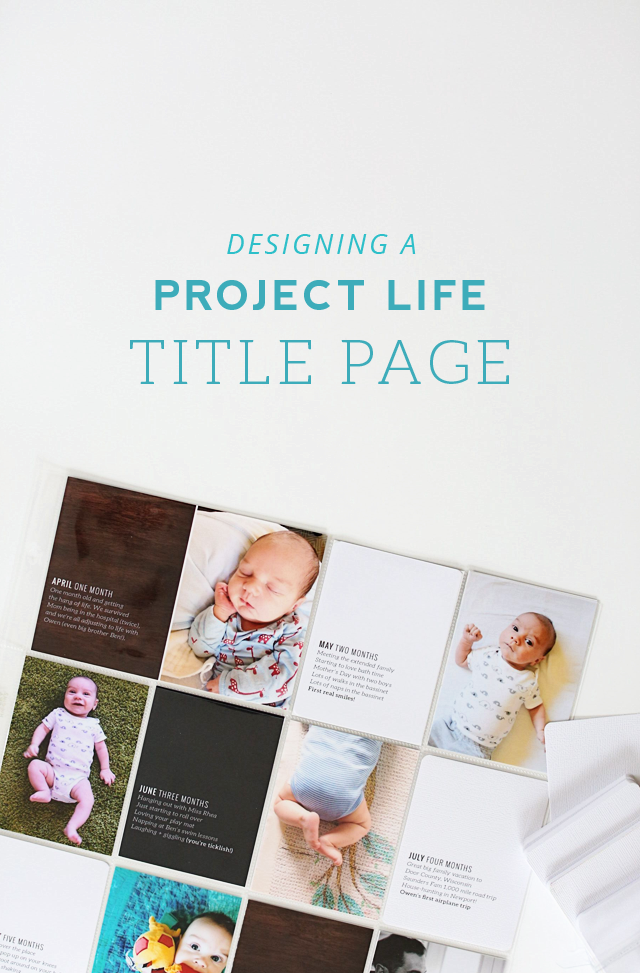 Designing a simple project life album title page