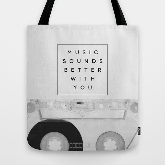 Music Sounds Better With You by Galaxy Eyes motivationmonday print inspirational black white poster motivational quote inspiring gratitude word art bedroom beauty happiness success motivate inspire