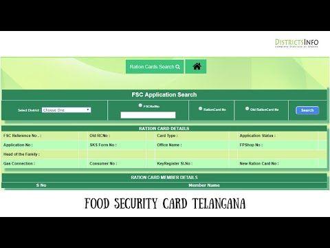Telangana Food Security Card Ahara Badratha Cards Apply