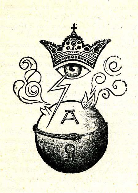 Signet, Titelbild : Christus, als A und O erfüllt die Erde  (19 Holzschnitte zur Apokalypse von Karl Rössing, 1946/47)