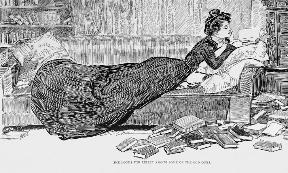 Gibson Girl Reading. Charles Dana Gibson (American, 1867-1944).