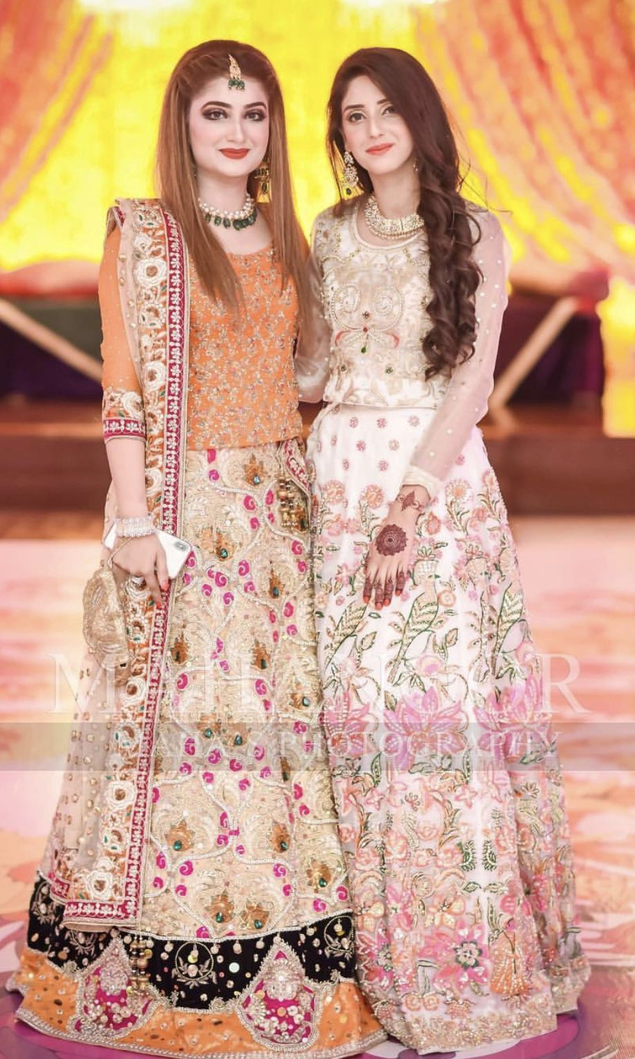 Brides Sisters Cousins Mehndi Dresses Pakistani Wedding Dresses Pakistani Dresses Casual Pakistani Formal Dresses,Indo Western Dresses For Wedding Reception