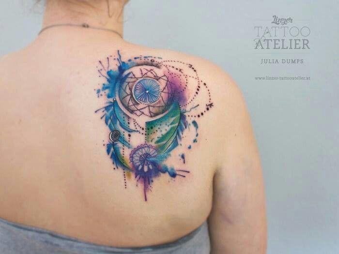 22 Tatuajes para mujer en acuarela