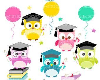 prek graduation clip art | Digital clip art. for all use, Grad ...
