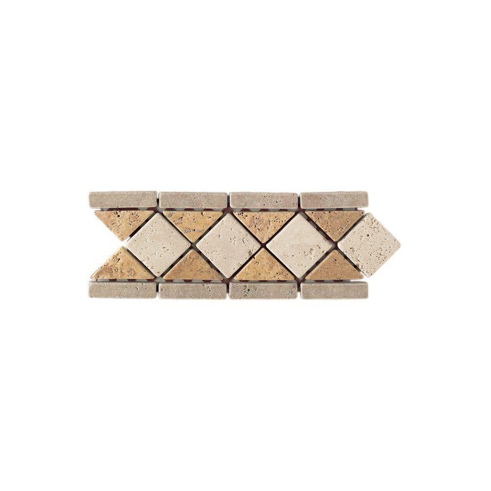 Decorative Travertine Tile Borders Daltile Travertine Antalyagoldivory Blend 4 Inx 12 Intumbled