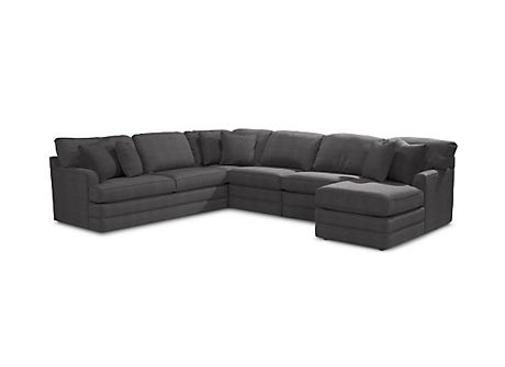 Lazy Boy Daphne Sectional For The Den I Even Love The Color Sectional Comfortable Sectional Sofa Living Room Sectional