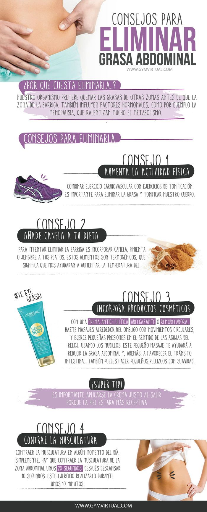 consejos para perder grasa abdominal