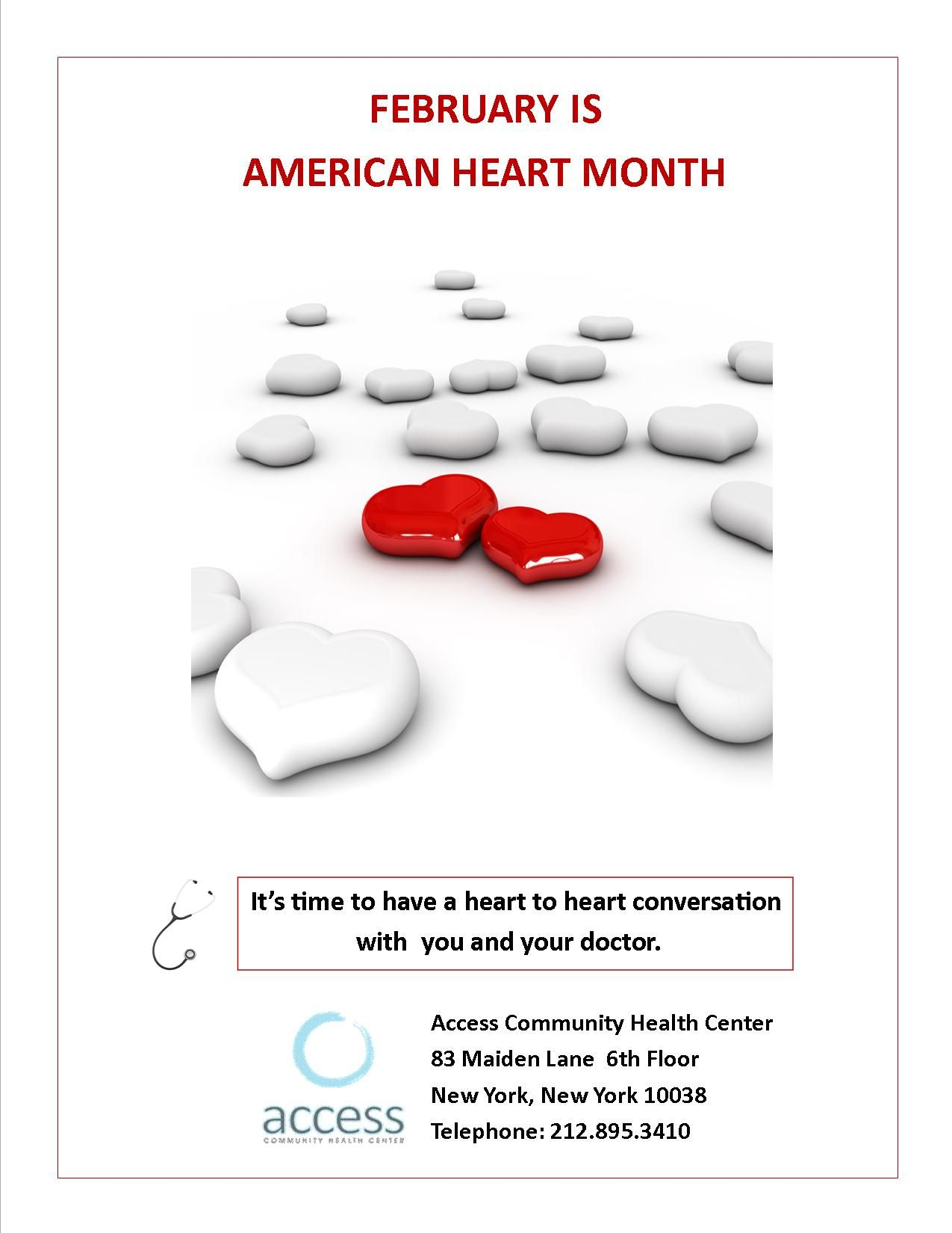 February is american heart month join access community