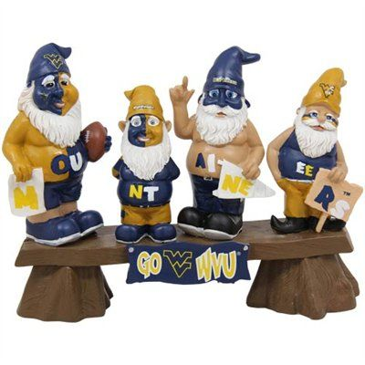 Marvelous West Virginia Mountaineers Fan Gnome Bench Beloved Wvu Creativecarmelina Interior Chair Design Creativecarmelinacom
