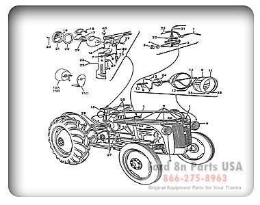 ford 8n 11h01 parts diagrams ford8npartsusa com ford 8n ford lighting kit wiring lashley tractor s