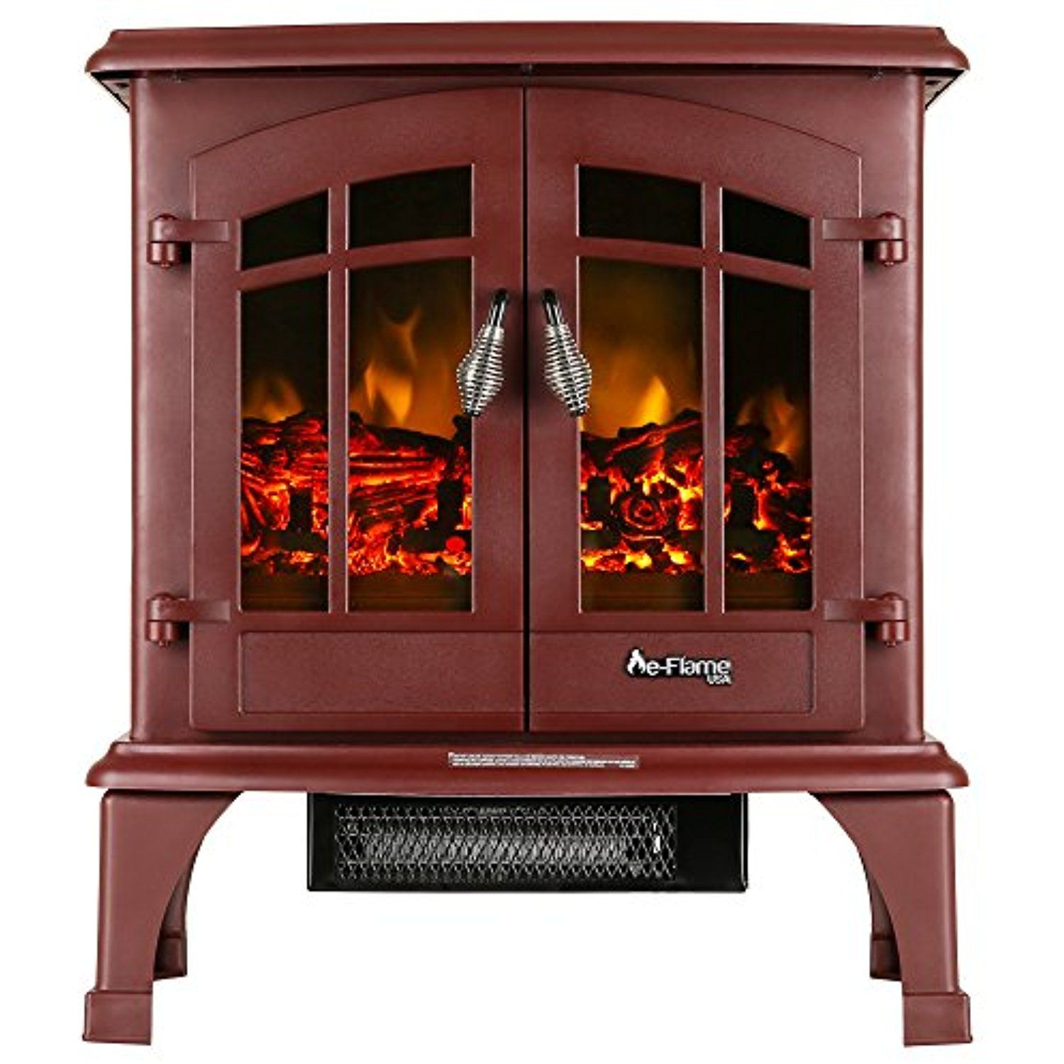 Jasper Portable Free Standing Electric Fireplace Stove By E Flame