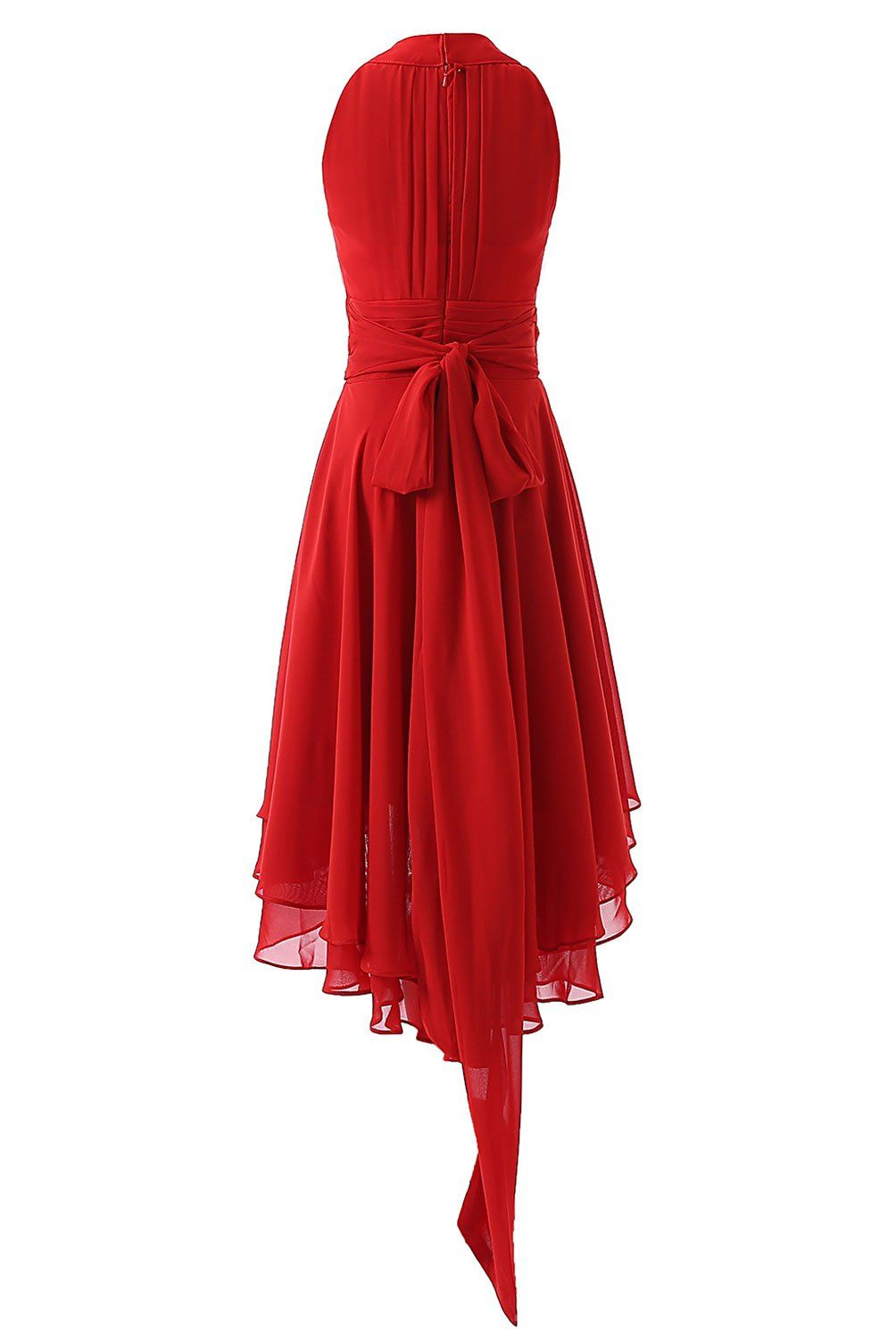 DYS Womens Short Bridesmaid Dresses Hi Lo Prom Homecoming Dress