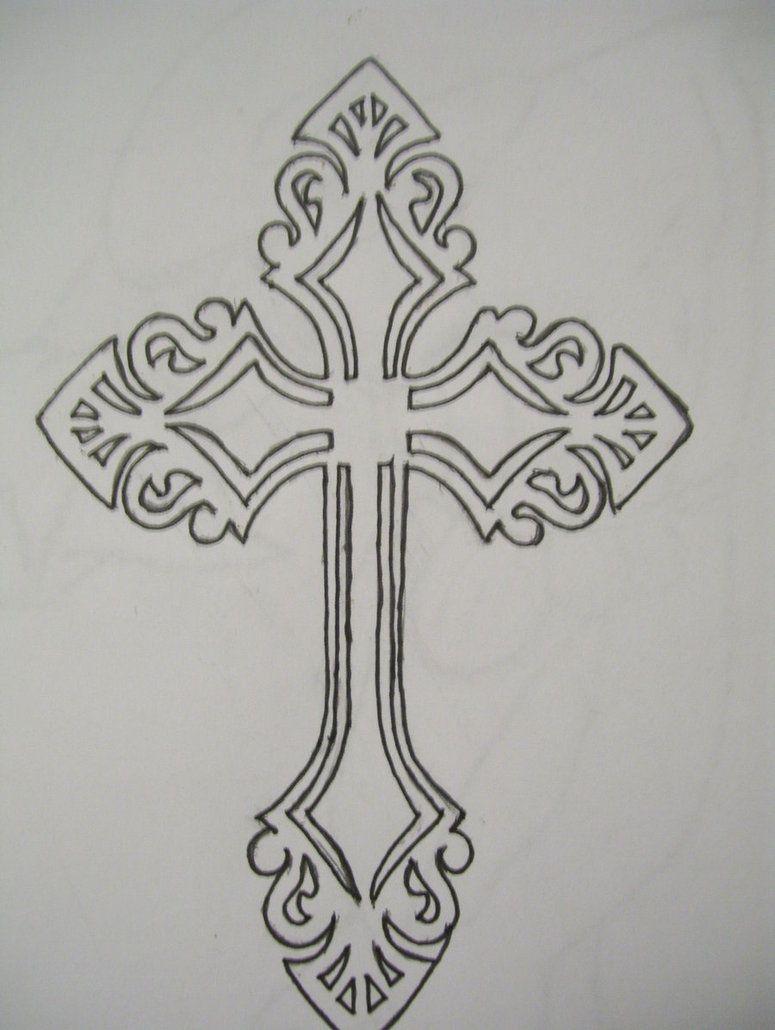 Cross Tattoo Outline : cross, tattoo, outline, Tattoos