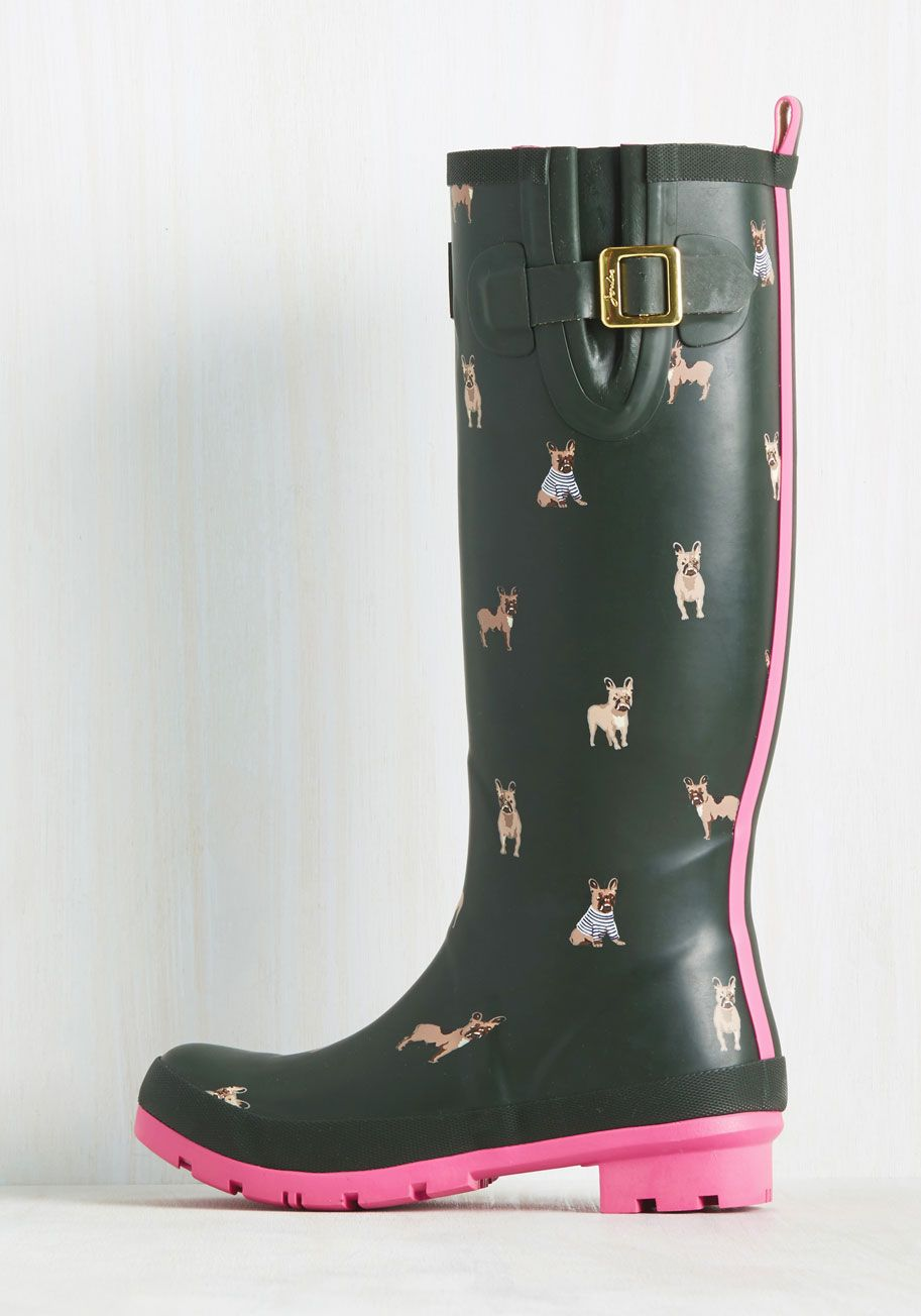 Splash the Time Rain Boot in Frenchies. En route to your destination with plenty…