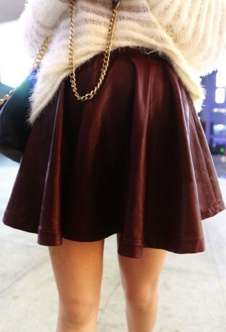 17 Best images about Burgundy leather skater skirt on Pinterest ...