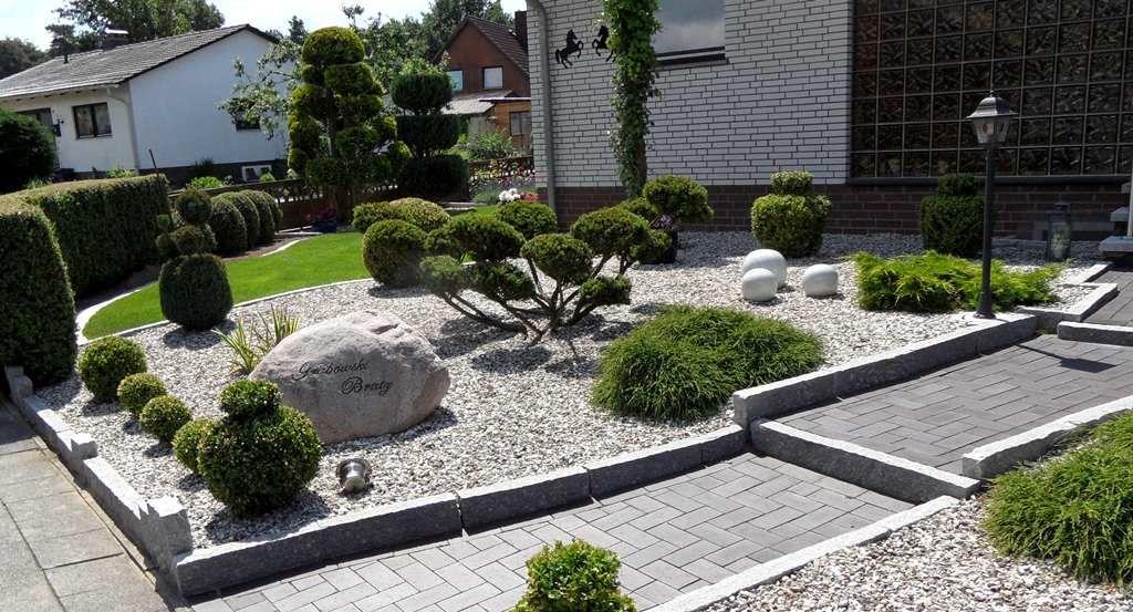 Garten mit gräsern und steinen gestalten  Kies Steine Vorgarten Picture Picture | Kiesgarten | Pinterest ...